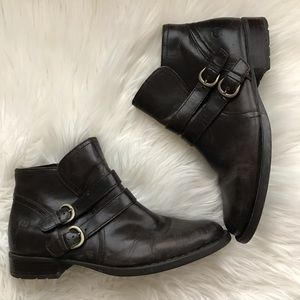 Born Distressed Leather Ankle Boots Booties